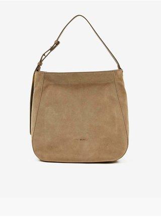 Béžová semišová kabelka Coccinelle Lea Suede