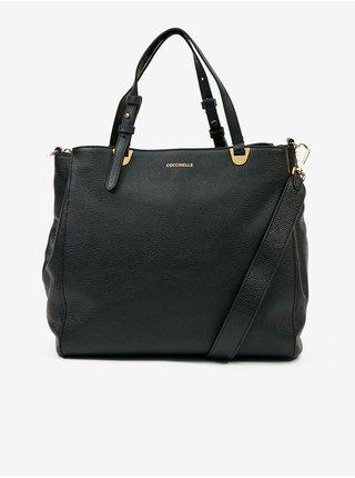 Černá kožená kabelka Coccinelle Lea