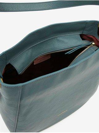 Modrá kožená kabelka Coccinelle Lea