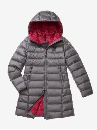 Zimné bundy pre ženy Blauer - sivá, tmavoružová