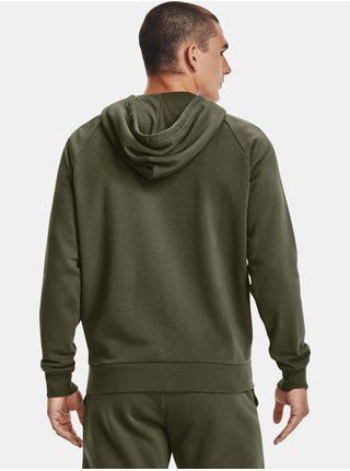 Mikina Under Armour UA Rival Cotton FZ Hoodie - zelená