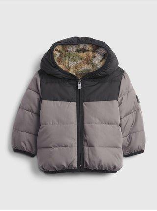 Šedá klučičí bunda prošívaná zimní GAP