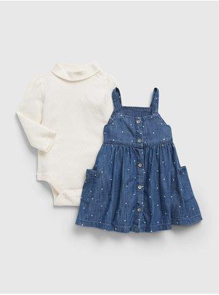 Barevné holčičí šaty set šaty a body GAP