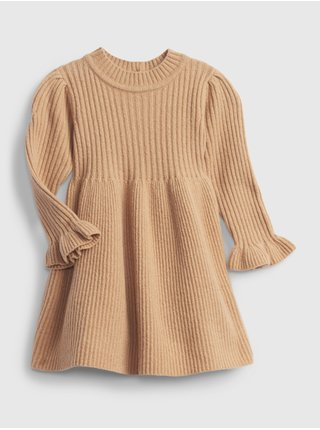Béžové holčičí šaty pletené šaty GAP