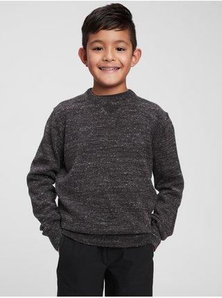 Šedý klučičí svetr pletený GAP