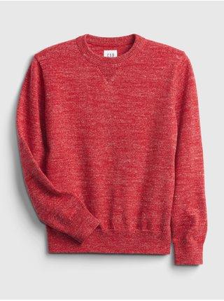 Červený klučičí svetr pletený GAP