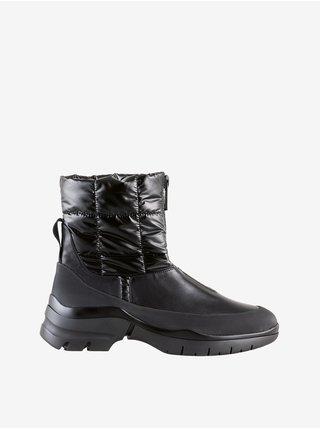 Černé dámské kotníkové zimní boty Högl