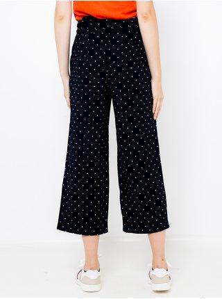 Černé puntíkované zkrácené kalhoty CAMAIEU