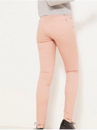 Svštle růžové skinny fit džíny CAMAIEU