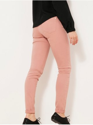 Starorůžové skinny fit džíny CAMAIEU