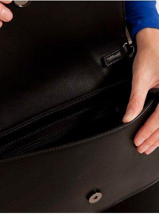 Černá koženková crossbody kabelka CAMAIEU