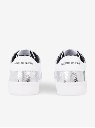 Stříbrné tenisky Calvin Klein Low Profile Laceup