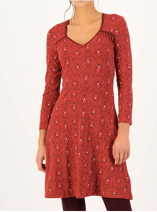 Červené dámske vzorované šaty Blutsgeschwister Diamond heart - bibi babuschka