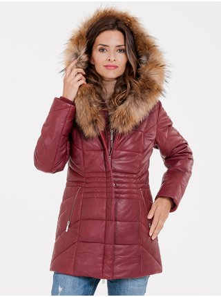 Kabáty pre ženy KARA - červená