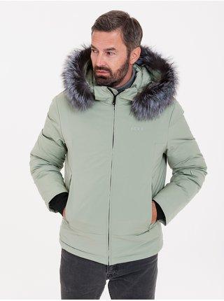 Zimné bundy pre mužov KARA - svetlozelená