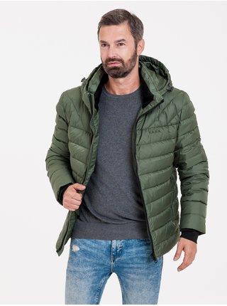 Zimné bundy pre mužov KARA - zelená