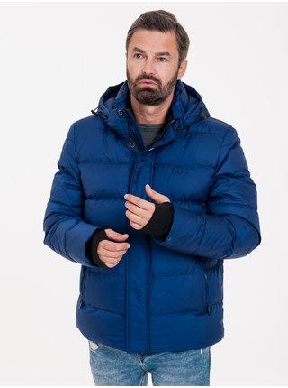 Zimné bundy pre mužov KARA - modrá