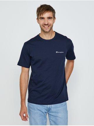 Tmavě modré pánské tričko s potiskem na zádech Champion