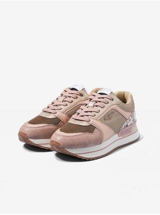 Růžové dámské tenisky na platformě Pepe Jeans Rusper