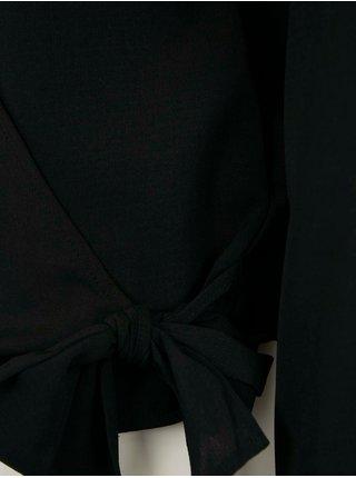 Černá halenka s ozdobnými lemy CAMAIEU