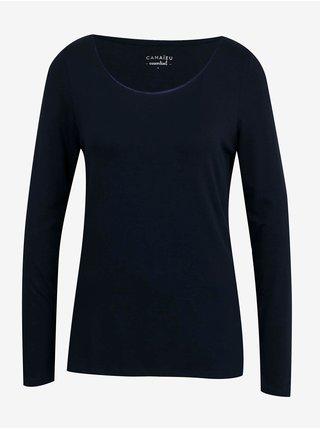 Tričká s dlhým rukávom pre ženy CAMAIEU - fialová