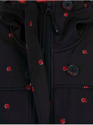 Černý dámský vzorovaný kabát Blutsgeschwister Ladybug Friends