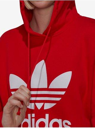 Červená dámská mikina s kapucí adidas Originals