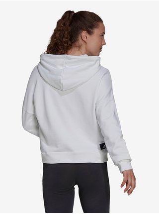 Bílá dámská mikina s potiskem adidas Performance W FI 3B Hoodie
