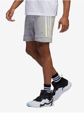 Světle šedé pánské kraťasy adidas Performance Hoodie