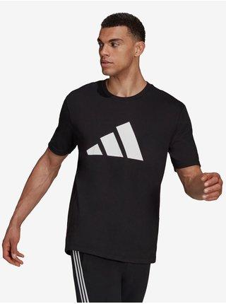 Černé pánské tričko s potiskem adidas Performance M FI 3B Tee