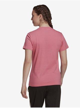 Růžové dámské tričko s potiskem adidas Performance W BL T