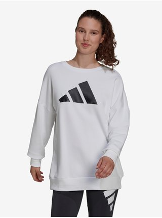 Bílá dámská mikina s potiskem adidas Performance W FI 3B CREW