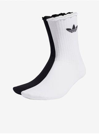 Sada pánskych ponožiek v bielej a čiernej farbe adidas Originals Ruffle CRW 2PP