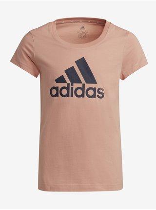 Marhuľové detské tričko s potlačou adidas Performance G BL T