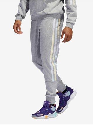 Svetlošedé pánske tepláky adidas Performance DM Pant