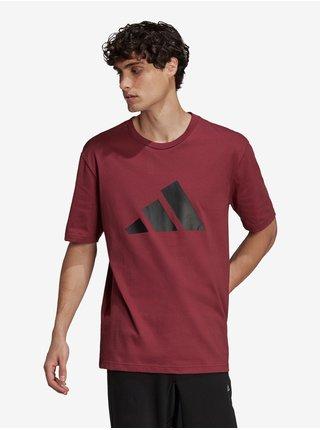 Vínové pánske tričko adidas Performance M FI 3B Tee