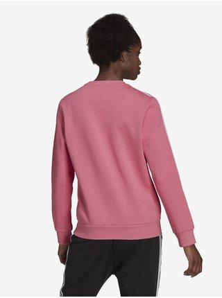 Růžová dámská mikina  adidas Performance W 3S FL SWT