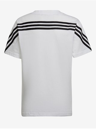 Černo-bílé dětské tričko adidas Performance B FI 3S Tee