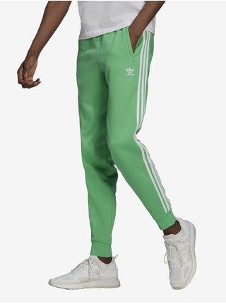 Zelené pánské tepláky adidas Originals 3-stripes Pant