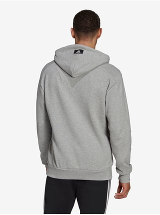 Světle šedá pánská mikina s kapucí adidas Performance M FI 3B Hoodie