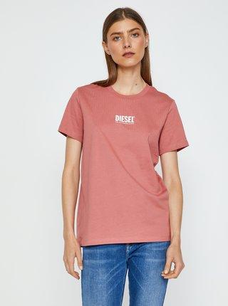 Dámské růžové triko Diesel Sily