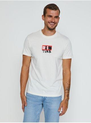 Krémové pínské tričko Diesel Diegos