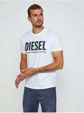 Tričká s krátkym rukávom pre mužov Diesel - biela