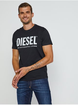 Černé pánské tričko Diesel Diegos-Ecologo