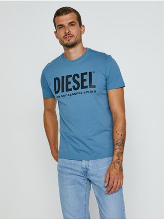 Modré pánské tričko Diesel Diegos-Ecologo