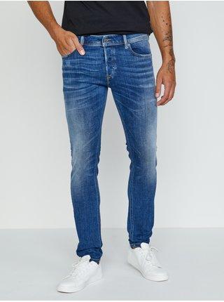 Modré pánské skinny fit džíny Diesel Sleenker