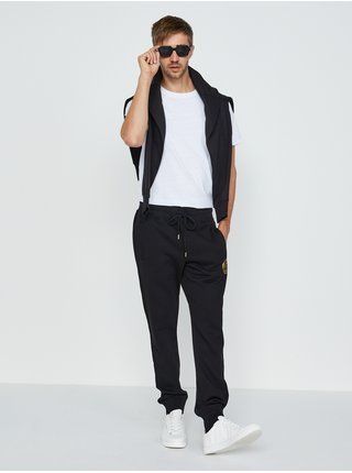 Čierne pánske tepláky Versace Jeans Couture V Emblem Foil S