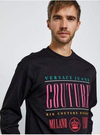 Čierne pánske tričko s potlačou Versace Jeans Couture R 13 Rub
