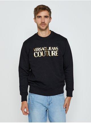 Čierna pánska mikina s potlačou Versace Jeans Couture R Logo Foil