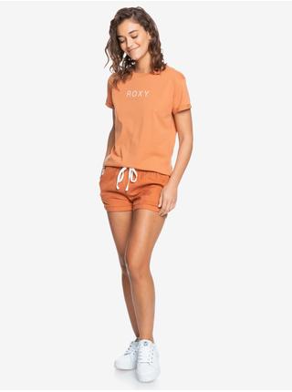 Oranžové tričko s potiskem Roxy